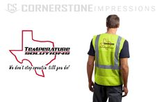 In an industry that has special dress requirements like this safety vest? We can handle that. Just fill out our request a quote form and let us know what we can customize for you! Special Dresses, Fill, Safety, Handle, Vest, Let It Be, Printed, Quotes, Mens Tops