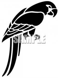 Parrot applique silhouette