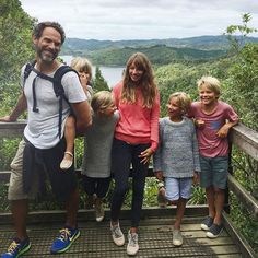 Courtney Adamo family;Family photo at the top of our big hike today