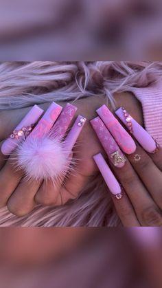Pink Nails, Gel Nails, Acrylic Nails, Stylish Nails, Coffin Nails, Summer Nails, Trendy Fashion, Nail Designs, Designer Nails
