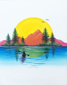 Join us for a Paint Nite event Sat Jul 2018 at 5301 Campbell Blvd White Marsh, MD. Purchase your tickets online to reserve a fun night out! Oil Pastel Art, Oil Pastel Drawings, Art Drawings, Art Painting Gallery, Painting & Drawing, Watercolor Paintings For Beginners, Watercolor Art, Drawing Scenery, Theme Nature