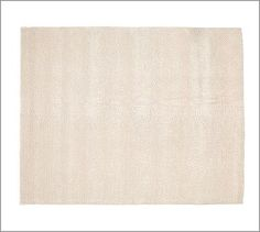 Popcorn Loop Rug - Ivory #potterybarn - got to carpet store to have simple rug cut for bedroom