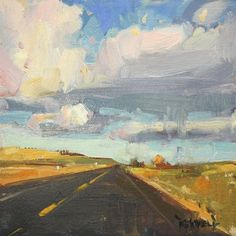 "Cathleen Rehfeld Fine Arts ""Western Skies"" 6x6 in"