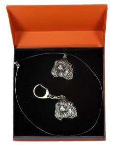 Basset Hound, Dog Keyring and Necklace in Casket, Prestige Set, Limited Edition, ArtDog I Love Jewelry, Jewelry Sets, Jewelry Design, Basset Hound Dog, Casket, Cavalier, Drop Earrings, Dogs, Silver