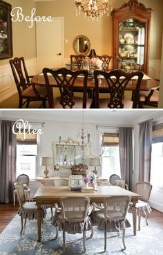 Budget Dining Room Makeover: How to Get the Soft Look.