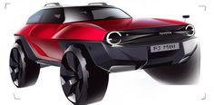 Toyota Mini FJ Cruiser Design Sketch by Alvin Tseng ACCD Trans Sketch off