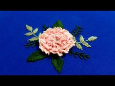 Embroidery 3d, Flower Embroidery Designs, Blouse Pattern Free, Free Pattern, 3d Rose, Brazilian Embroidery, Easy Work, Flowers, Videos