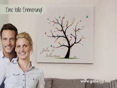 Fingerabdruck Leinwand wedding tree galleryy