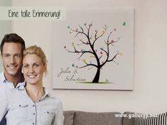 Fingerabdruck Leinwand wedding tree galleryy