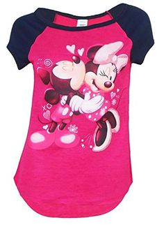 753c3a6e Disney Mickey Mouse and Minnie Mouse Kisses Tee Junior Girls Fashion Top T  Shirt Medium *