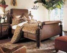Thomasville Hemingway Bed | Ernest Hemingway Kilimanjaro King Bed & Nightstands