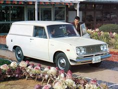 Too cute!  Early 1960s Toyota Corona Panel Van. Imagine taking this to the grocery store.  #classic #vintage #retro