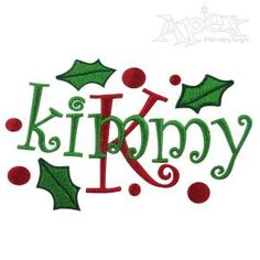 Make Christmas Embroidery Frames with any font . We use Font #1 from our curlz section. Font not included. What you get is a pack of 4 designs, 5 or more different size designs in each. Total of 28 design. 1. Snow 2. Berry/Dots 3. Bulb 4. Holly