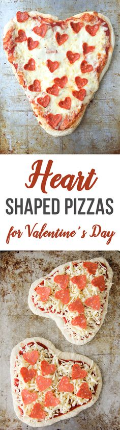 Valentine's Day Heart Shaped Pizzas + 25 Valentine's Day Ideas!