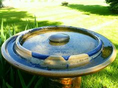 Wheel thrown platter/bird bath ~ Ken Ferber