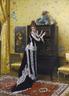 In the Salon-Gustave Leonard de Jonghe