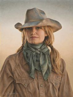 "Cowgirl From Kinnear, Wyoming  Medium: Oil on linen  Size: 16"" x 12""  Total Price: $15,300  Available for Purchase  Price: $16,000  Buyer's Premium: $300  Total Price: $16,300  Available for Purchase"