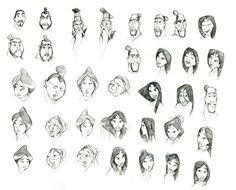 Chin-yi-Chang Mulan sketches