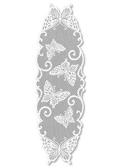 Crochet table runner butterfly Ideas for 2019 Crochet Butterfly Pattern, Crochet Bedspread Pattern, Crochet Curtains, Crochet Motif, Crochet Doilies, Crochet Lace, Crochet Patterns, Butterfly Table, White Butterfly