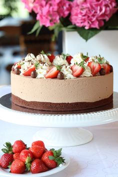 Cute Cakes, Yummy Cakes, Sweet Recipes, Cake Recipes, Decadent Cakes, Ice Cream Pies, Sweet And Salty, Something Sweet, Beautiful Cakes