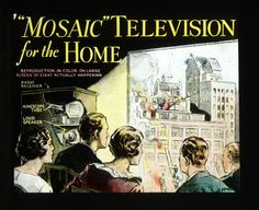 """Magic Lantern Slide Predicting The Coming Of Television In The Home (""""Television"""" literally means """"seeing at a distance"""")"""