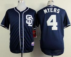 7c0bde53b Padres  4 Wil Myers Dark Blue Alternate 1 Cool Base Stitched MLB Jersey