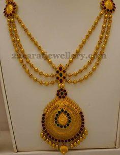Jewellery Designs: Triple Layered Gold Balls Set