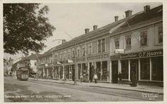 Sør-Trøndelag fylke Trondheim Trondhjrn Olaf Tryggvesens Gade med trikk  brukt 1911 Utg C. A. Erichsen
