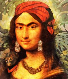 Mona Lisa: Frida Kahlo  (Exactly! )   Now I need one by Warhol  one by Pollock so all of my least favorites can ruin Mona.