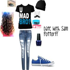 """""""Date With Sam Pottorff"""" by oliviamarinello on Polyvore"""