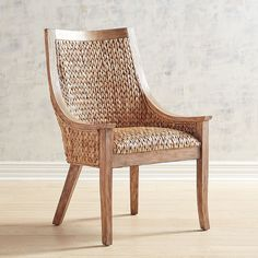 Pier 1 Imports Cinta Wicker Dining Chair with Natural Stonewash Wood - ShopStyle Clear Dining Chairs, Rustic Dining Chairs, Kitchen Chairs, Outdoor Dining, Side Chairs, Dining Area, Wicker Furniture, Dining Room Furniture, Cool Furniture