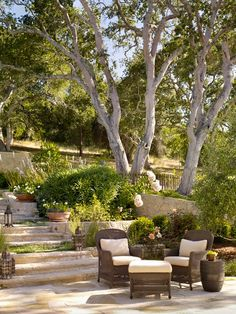 Nicely landscaped patio
