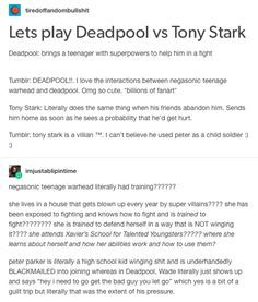 deadpool and negasonic teenage warhead vs. iron man and spiderman part 1/3 // cacw, captain america civil war, tony stark, iron man, peter parker, spiderman, deadpool, wade wilson, negasonic teenage warhead, ellie phimister, colossus, Piotr Nikolaievitch Rasputin, marvel, mcu, avengers, x men