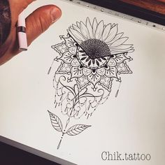 So many people like sunflower, not only because of its beauty, but also its impl… Sunflower tattoo – Fashion Tattoos Neue Tattoos, Body Art Tattoos, Tattoo Drawings, Sleeve Tattoos, Cool Tattoos, Tatoos, Mandala Tattoo Schulter, Schulter Tattoo, Sunflower Mandala Tattoo