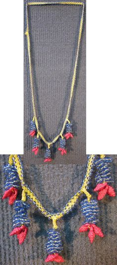 Beadwork necklace, made in the mountain village of Zerk/Altınkaya (Manavgat district, to the south of Antalya), early 2000s.  Cotton, glass beads, plastic.  (Inv.n° bon036 - Kavak Costume Collection-Antwerpen/Belgium).