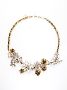 Elizabeth Cole Gold & Crystal Bouquet Necklace  --- even though its not turquoise, its really pretty :)