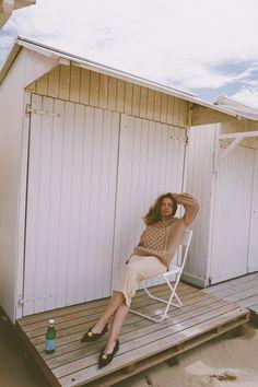 Fatal Dress worn by gorgeous Elena Vasilieva. Wolford, Tube Dress, Porch Swing, Monochrome, Elegant, Outdoor Decor, Spotlight, Inspiration, Instagram