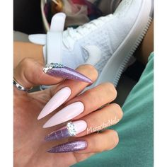 Stiletto Nails by MargaritasNailz summer 2016 nail design