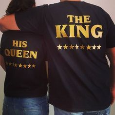 t-shirt tees2peace king queen gold edition love tees couple couples shirts matching couples matching set black t-shirt black and gold anniversary present birthday present for him his and hers shirts girlfriend gift ideas boyfriend stars tumblr shirt tumblr tumblr clothes instagram models king and queen the king his queen valentines day gift idea gift ideas