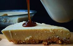<p>The creamy vegan filling and gluten-free crust require no oven time, making this recipe no-bake. The dark maple syrup conjures up richer flavors we associate with fall. Topped with caramel sauce, this dessert is simply decadent!</p>