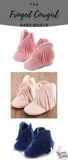The Fringe Cowgirl Boots. Soft soled crib shoes for baby girl. The Fringe Cowgirl Boots. Soft soled crib shoes for baby girl. Baby Girl Shoes, Girls Shoes, Baby Cowgirl Boots, Newborn Cowboy, Shoe Recipe, Boy Diaper Bags, Neutral Baby Clothes, Cowboy Outfits, Baby Fashionista