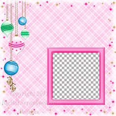 "Layout QP 2-6 Pink.....Quick Page, Digital Scrapbooking, Christmas Time Collection, 12"" x 12"", 300 dpi, PNG File Format"