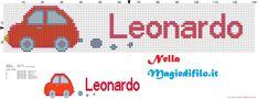 Leonardo nome con macchinina