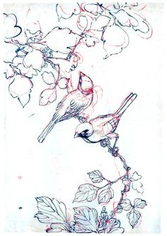 two birds on grape vine.  artist unknown, ca. late 19th to early 20th century