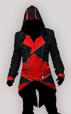 I found 'Assassin's creed black jacket' on Wish, check it out! I don't care if it's a guy's hoodie!!