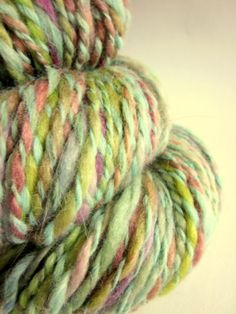 Handspun hand dyed bulky alpaca and bfl knitting by thefibretree, £9.99