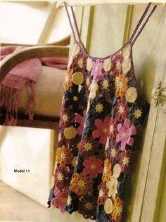 Ivelise Feito à Mão: Blusa Regata Rendada De Crochê