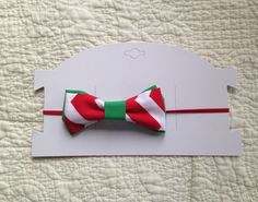 Christmas bow, fabric bow, double bow, Christmas headband by LilacAndMarigold on Etsy https://www.etsy.com/listing/493240157/christmas-bow-fabric-bow-double-bow