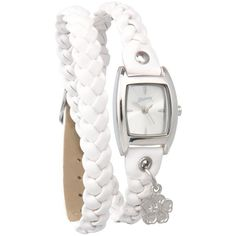 Womens white plaited strap watch found on Polyvore