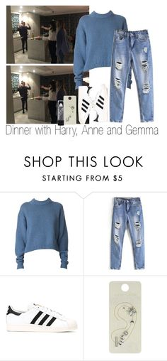 """Dinner w. Harry, Anne and Gem"" by edna-loves-1d ❤ liked on Polyvore featuring TIBI and adidas Originals"